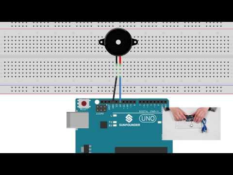 SunFounder Learning Kit Tutorial for Arduino - Buzzer -Super Kit/Starter Kit/RFID Kit