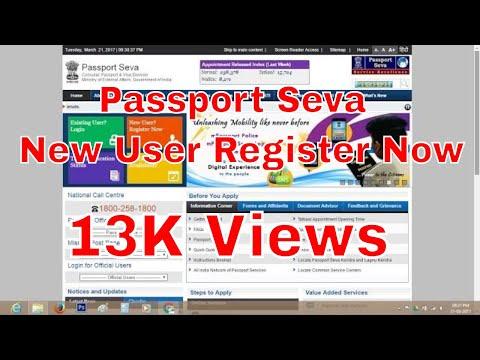 Passport Seva New User Register Now
