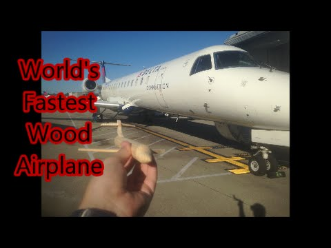 🕷World's Fastest Wooden Airplane for MakersCare org
