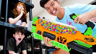 Extreme Camo NERF Hide and Seek Challenge!