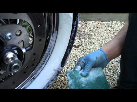 Delboy's Garage, Harley white wall tires cleaning tip