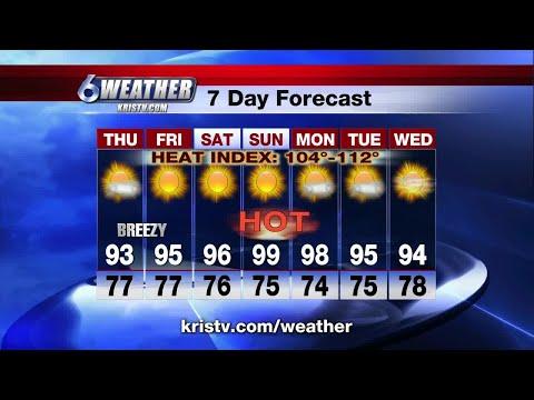 Coastal Bend weather forecast 5/30/18 6PM