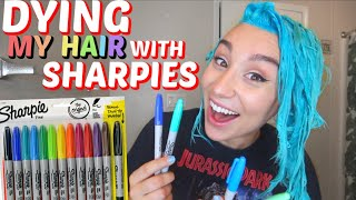 DYING MY HAIR WITH SHARPIES *permanent markers*
