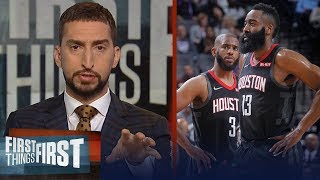 'The Chris Paul and James Harden tension is real' - Nick Wright   NBA   FIRST THINGS FIRST