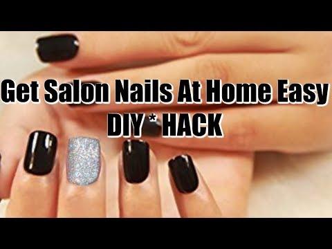How I Get Salon Nails At Home Easy DIY HACK 💅🏽