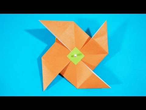 Origami - How to make a Windmill