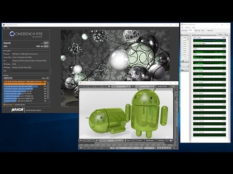 AMD Ryzen 7 1800X Review - Cinebench R15 Benchmark and Blender 3D Rendering