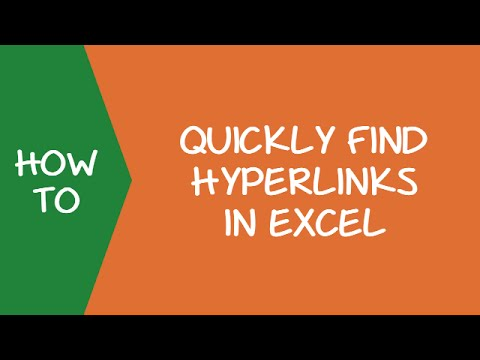 How to Quickly Find Hyperlinks in Excel
