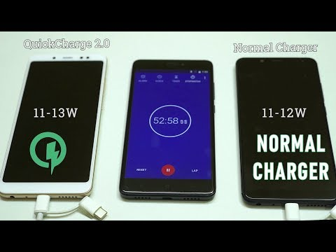 Redmi Note 5 Pro Charging test- Quick Charge 2.0 vs Normal Charger!