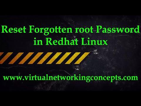 Reset Forgotten root Password in Redhat Linux