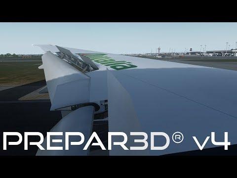 Prepar3D v4 3 | JFK to Rome | KJFK-LIRF | PMDG 777-300ER | P3D