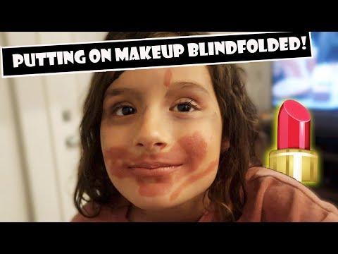 Putting On Makeup Blindfolded! 💄 (WK 383.5)   Bratayley