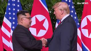 The moments you might have missed when Donald Trump met Kim Jong-un   ITV News