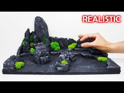 How to make a Realistic Model Scenery | Nature Diorama Modeling