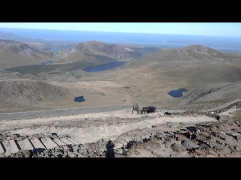Snowdonia mountain railway - 360 summit view HD