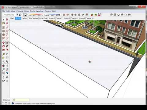 SketchUp Building Texture on face