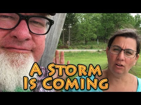 A Serious Storm is Coming | A Big Family Homestead VLOG