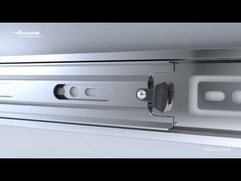 How does the hold-out feature work on a drawer slide?