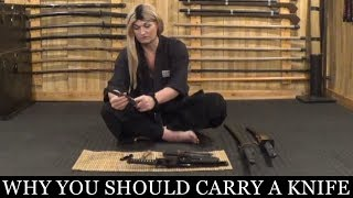 Why You Should Carry A Knife For Self-Defense | Ninjutsu Martial Arts Training (Ninpo)