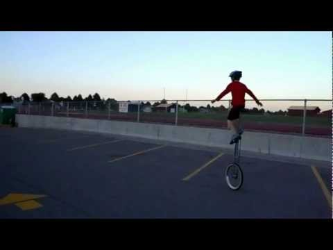120908 Trevor riding tall unicycle