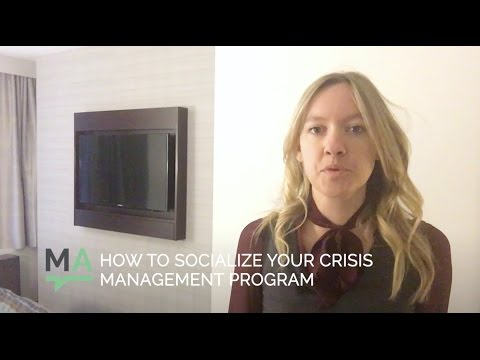 How to Socialize Your Crisis Management Plan
