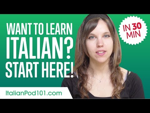 Get Started with Italian Like a Boss! - Learn Italian in 30 Minutes