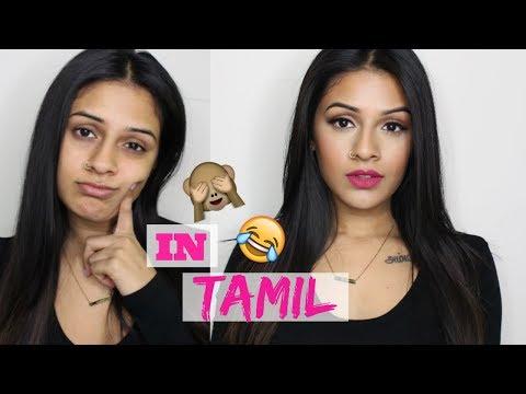 TRYING TO SPEAK TAMIL   Makeup Tutorial!!