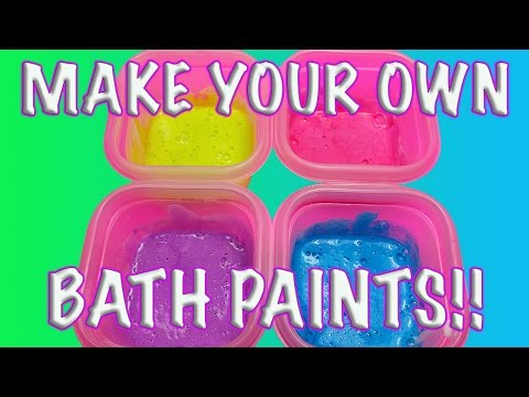 DIY: HOW TO MAKE HOMEMADE BATH PAINTS FOR KIDS! RINSES AWAY INSTANTLY!