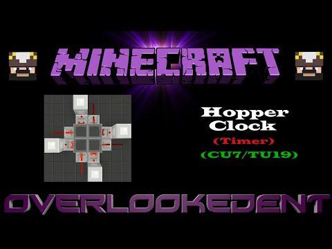 Hopper Clock (Timer) Pistonless - Minecraft Xbox/Playstation - [Tutorial]