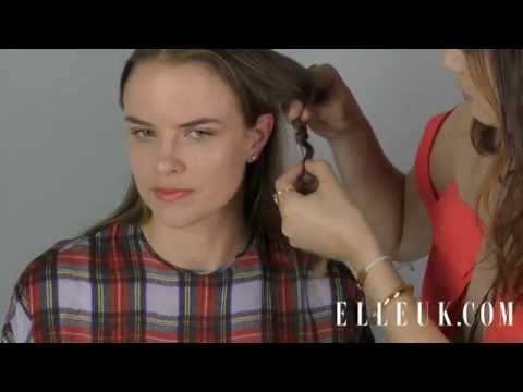 ELLE Beauty School: PREEN. Seventies: How to create crimped hair by rick-racking