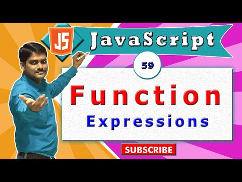 JavaScript tutorial 76 - function expression | functions in javascript