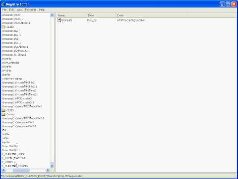 Windows XP Professional - Registry Editor