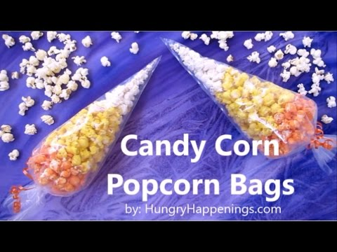 Popcorn Candy Corn Bags