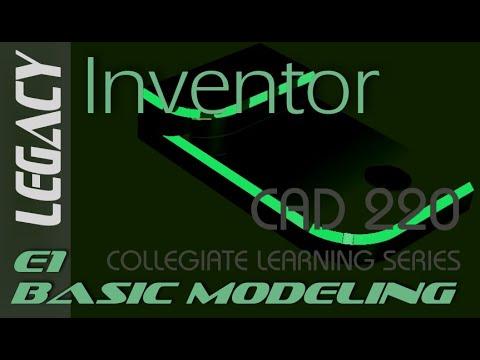 E1 Autodesk Inventor 2018 - Basic Modeling 1 Tutorial