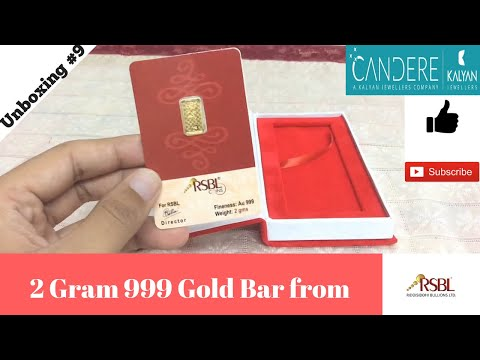 Unboxing 2 Gram 24kt 999 RSBL Gold Bar from Candere.com! (India)