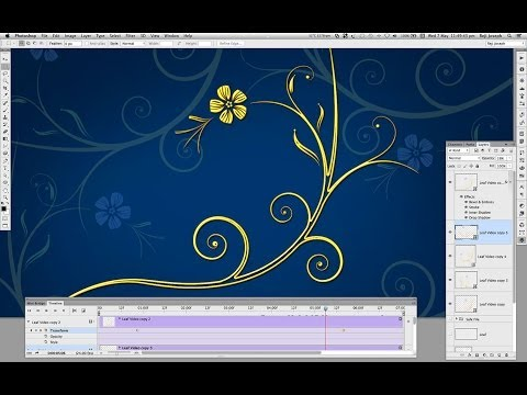 Floral design Animation in Photoshop