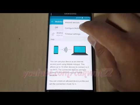 Android 5.0 : How to Change Network name and password in Mobile Hotspot on Samsung Galaxy S6