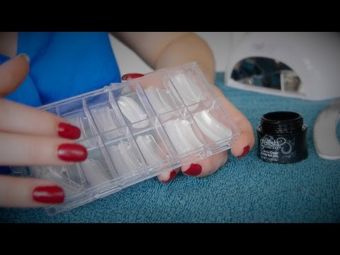 ❤︎ DIY Dual Forms & Hard Builder Gel Nails ❤︎ Relaxing ASMR Video