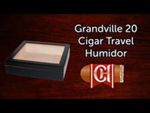 The Grandville 20 Cigar Travel Humidor