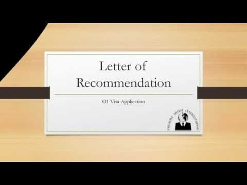 O1 Visa Letters of Recommendation- Creative Artist International