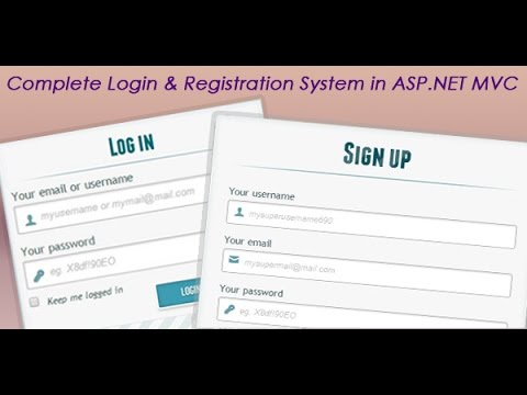 Complete login and registration system in ASP.NET MVC application