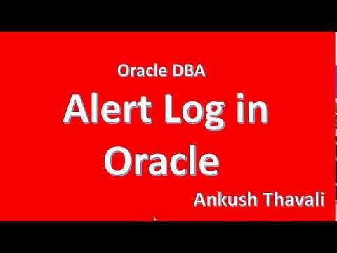 Alert log file in Oracle