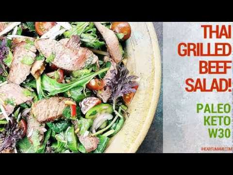 Thai Grilled Beef Salad (Paleo, Keto, Whole30)