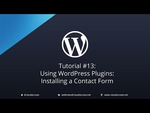 Tutorial #13: Using WordPress Plugins: Installing a Contact Form