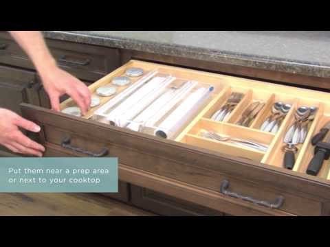 Medallion Cabinetry: Glass and Stainless Steel Containers (Spice Drawer), Kitchen Storage Part 24