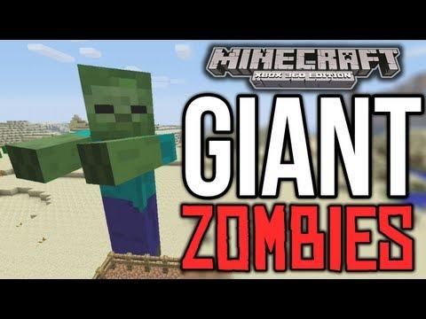 Minecraft (Xbox 360) - GIANT ZOMBIE MOD! - (Machinima)