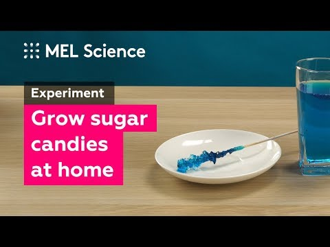 How to make sugar candies at home (DIY experiment)