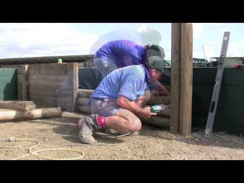 Round Log Walls  - Construction