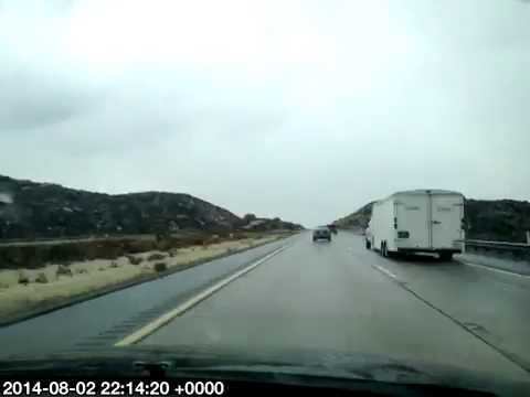 Timelapse San Diego Sheraton Airport to Phoenix in Rain lots of traffic lunch Pho Hoa August 2014