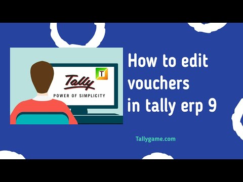How to edit voucher from tally , alter voucher in tally